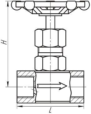 Клапан запорный игольчатый 15с54бк, 15лс54бк, 15нж54бк