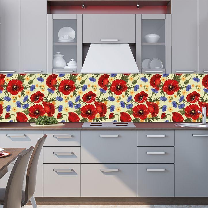 Фартук кухни - Цветочный мотив 5 купить в магазине Интерьерные наклейки