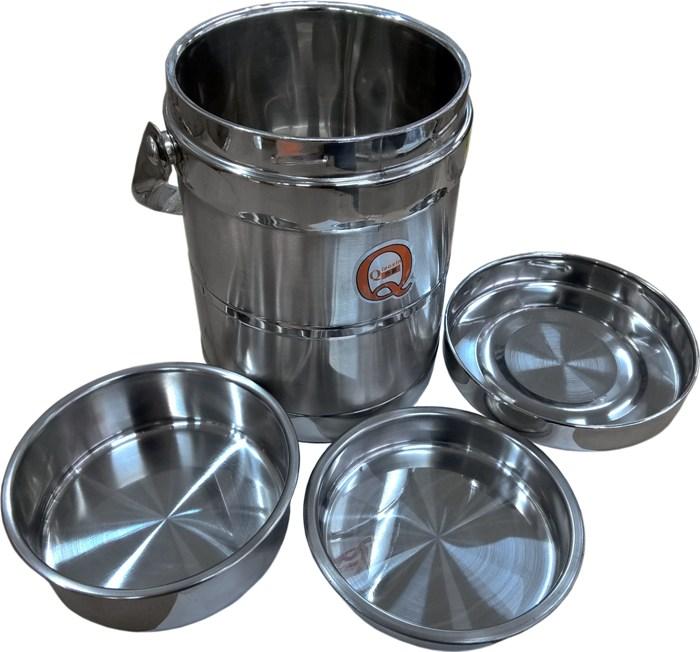Термос Qiaoxin с контейнерами для еды в разобранном виде