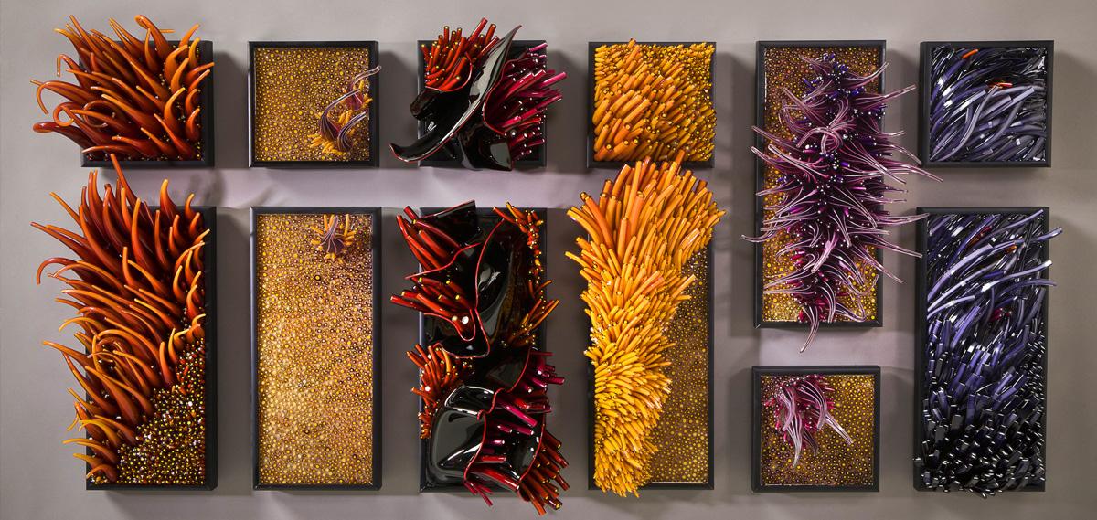 Картины из стекла Шайны Лейб