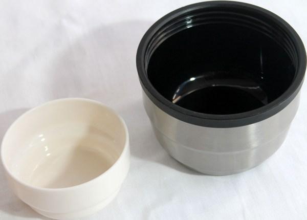 Термос Steel Drink для напитков с пробкой-кнопкой - крышка и чашка