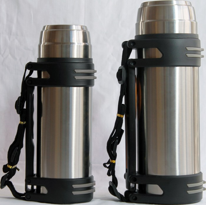 Термос Steel для напитков с пробкой-кнопкой - удобная форма