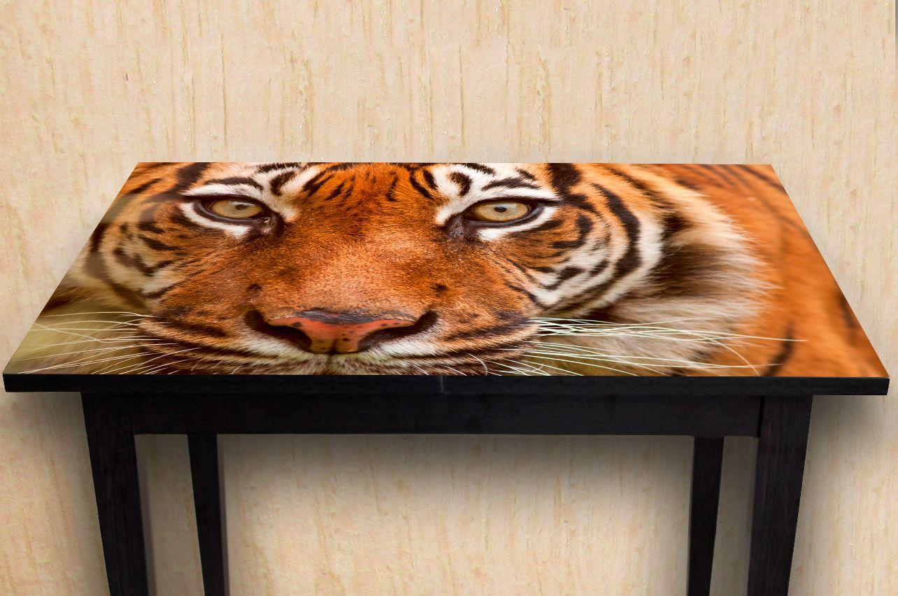 Наклейка на стол - Тигр | Купить фотопечать на стол в магазине Интерьерные наклейки