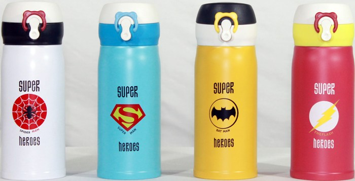 Термостакан Super Heroes 350 мл с поилкой - рисунки