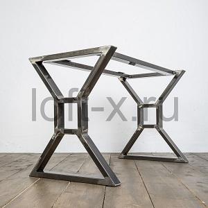 Подстолье лофт из металла и дерева