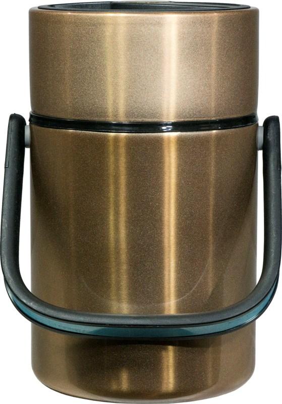 Термос Steel Food M 2,2 литра с тремя ёмкостями для еды - удобная форма