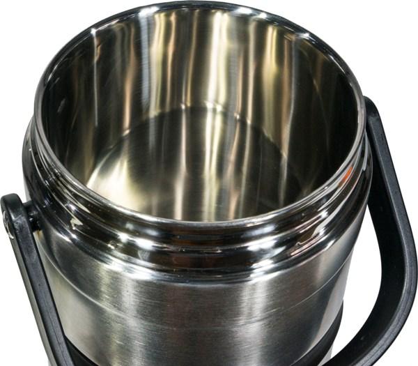 Термос Steel Food L 2,6 литра с тремя ёмкостями для еды - широкое горло