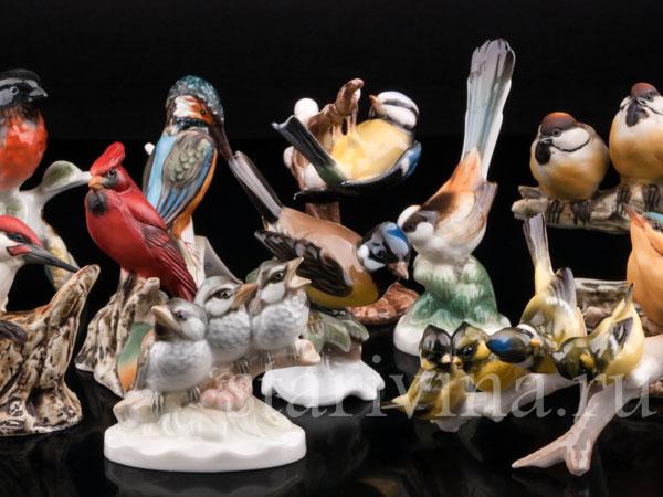 Фарфоровые статуэтки птиц фото