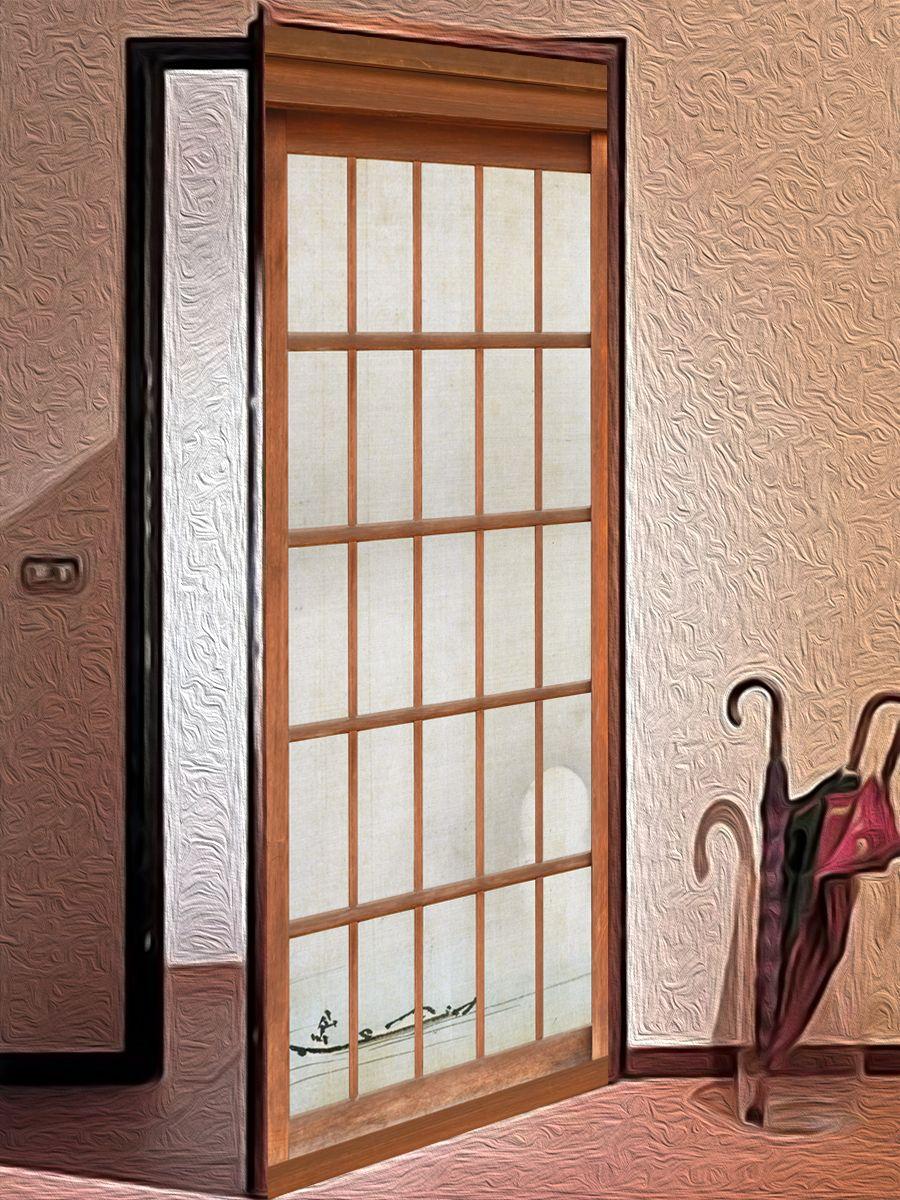 Наклейка на дверь 障子 - Сёдзи | магазин Интерьерные наклейки