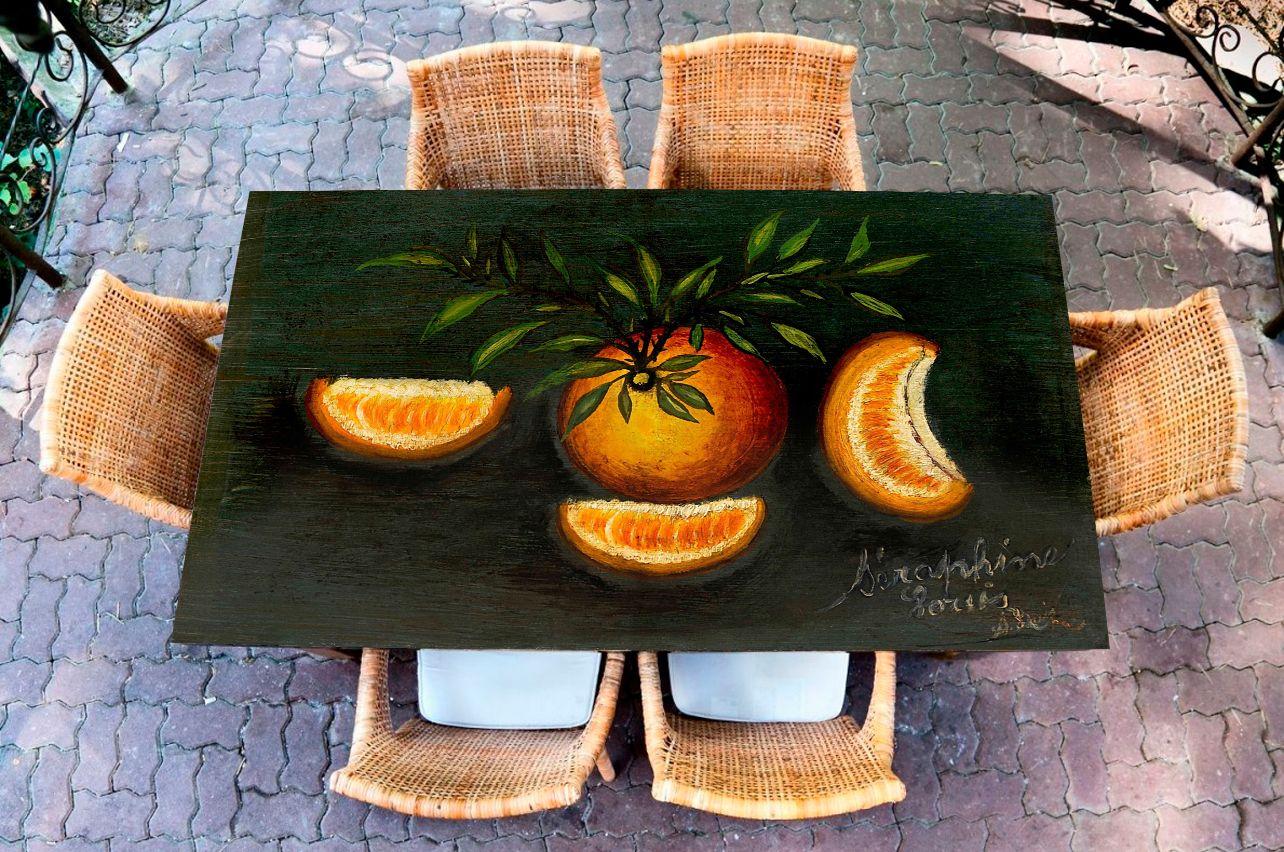 Наклейка на стол -  Серафима из Санлиса  | магазин Интерьерные наклейки