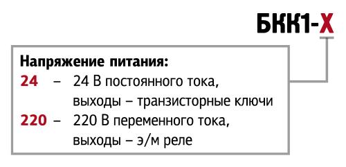 Модификации ОВЕН БКК1