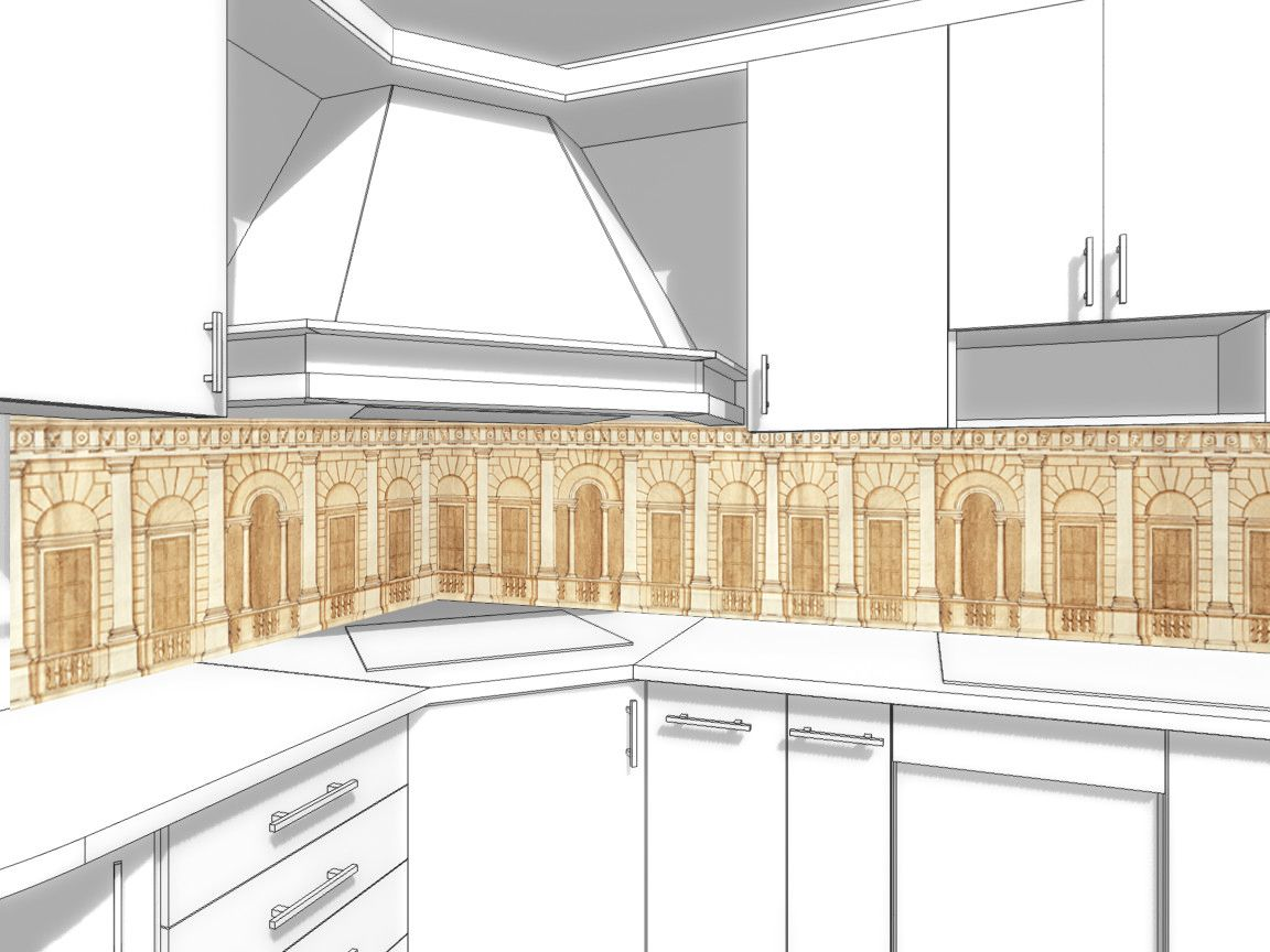 Kitchen Backsplash - Architect's drawing