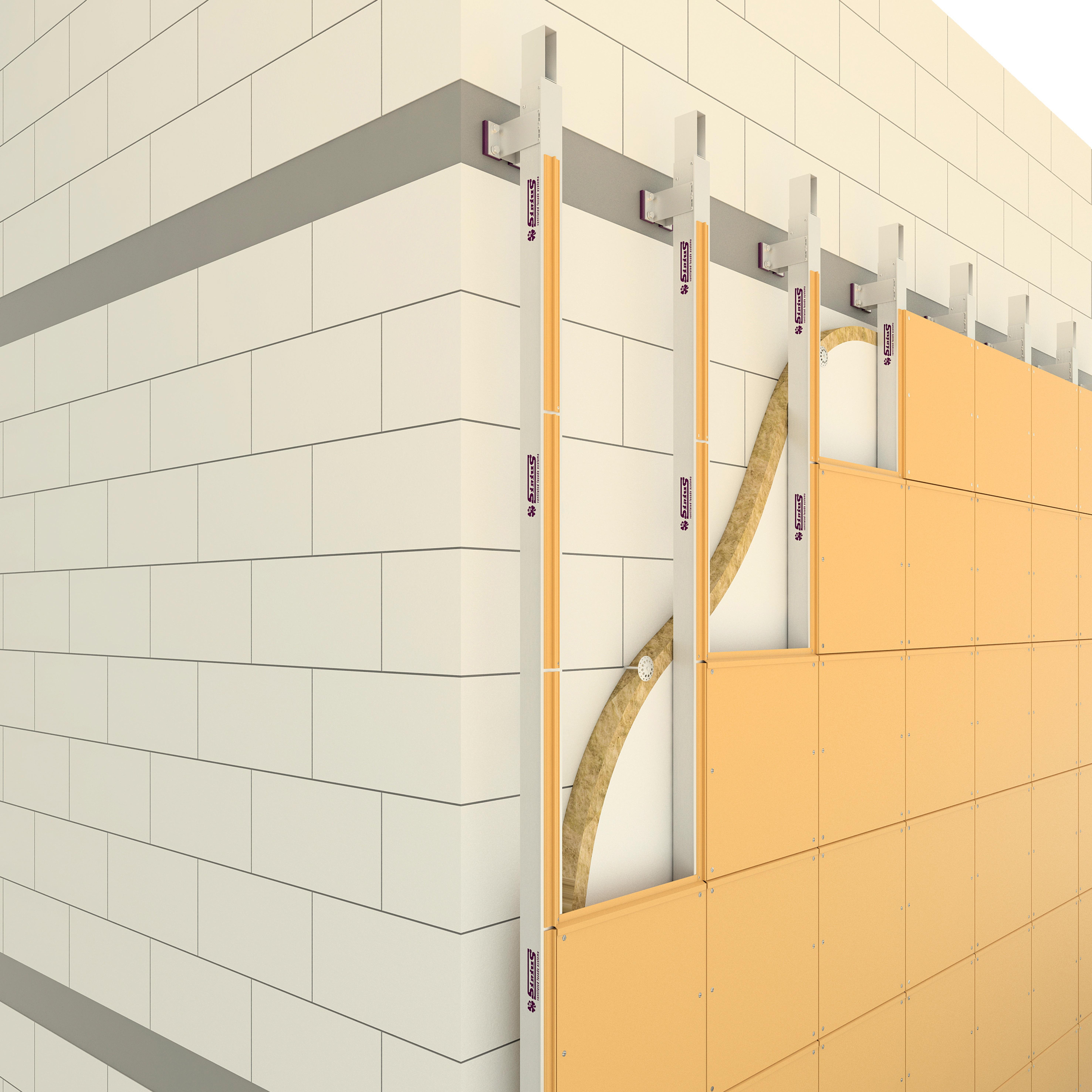 Подсистема вентилируемого фасада межэтажная SIRIUS SH