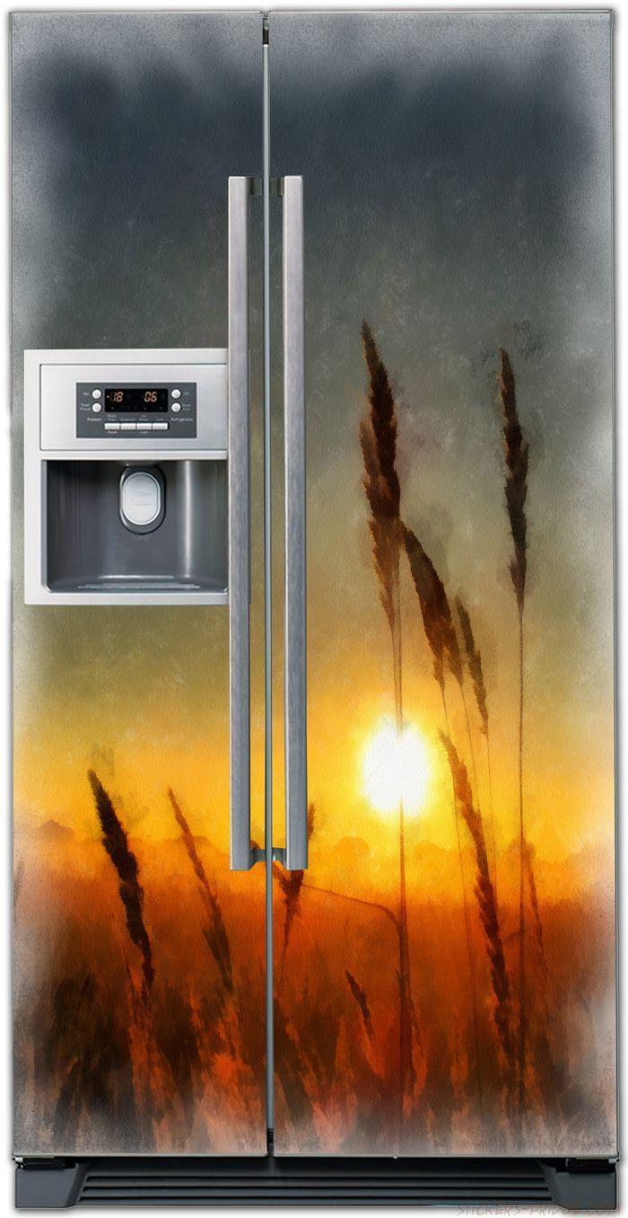 наклейка на холодильник - рассвет