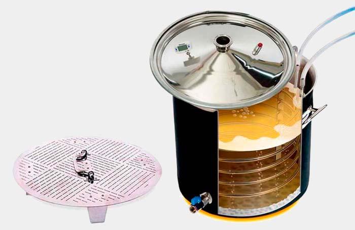 Приготовления пива в самогонном аппарате Wein 4