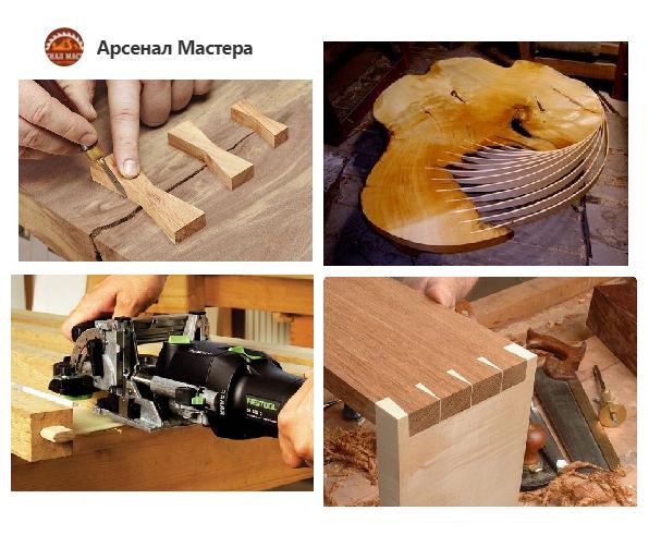 максимально широкий спектр вариантов соединений, используемых в изделиях из древесины