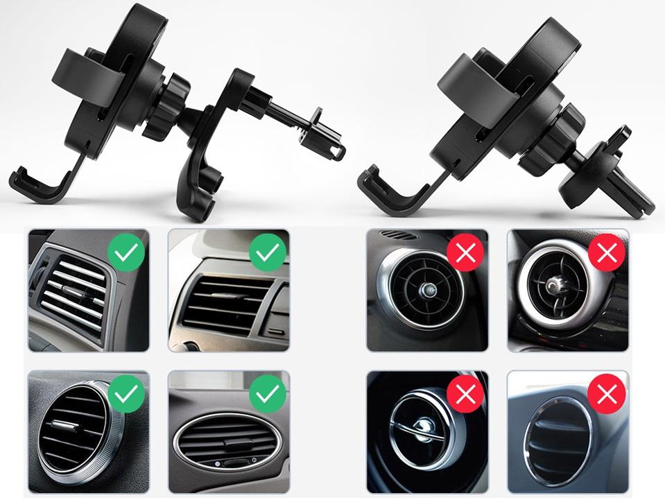 Автомобильное крепление 70mai Wireless Car Charger Mount Black установка