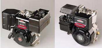 Расположение номера модели на двигателе для газонокосилки