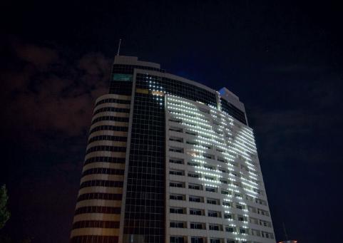 художественная подсветка здания