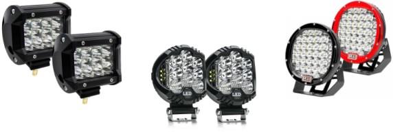 светодиодные фары дополнительного света для внедорожников