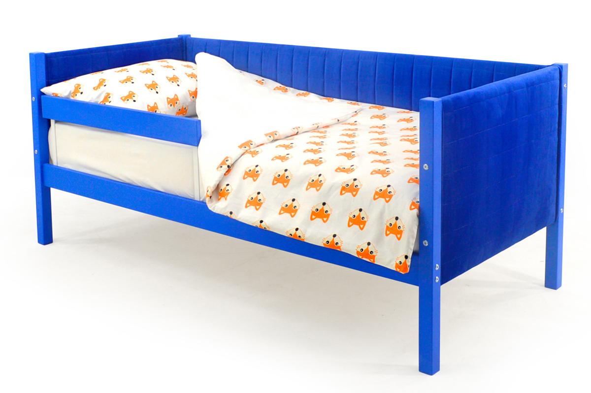 Кровать-тахта мягкая синий