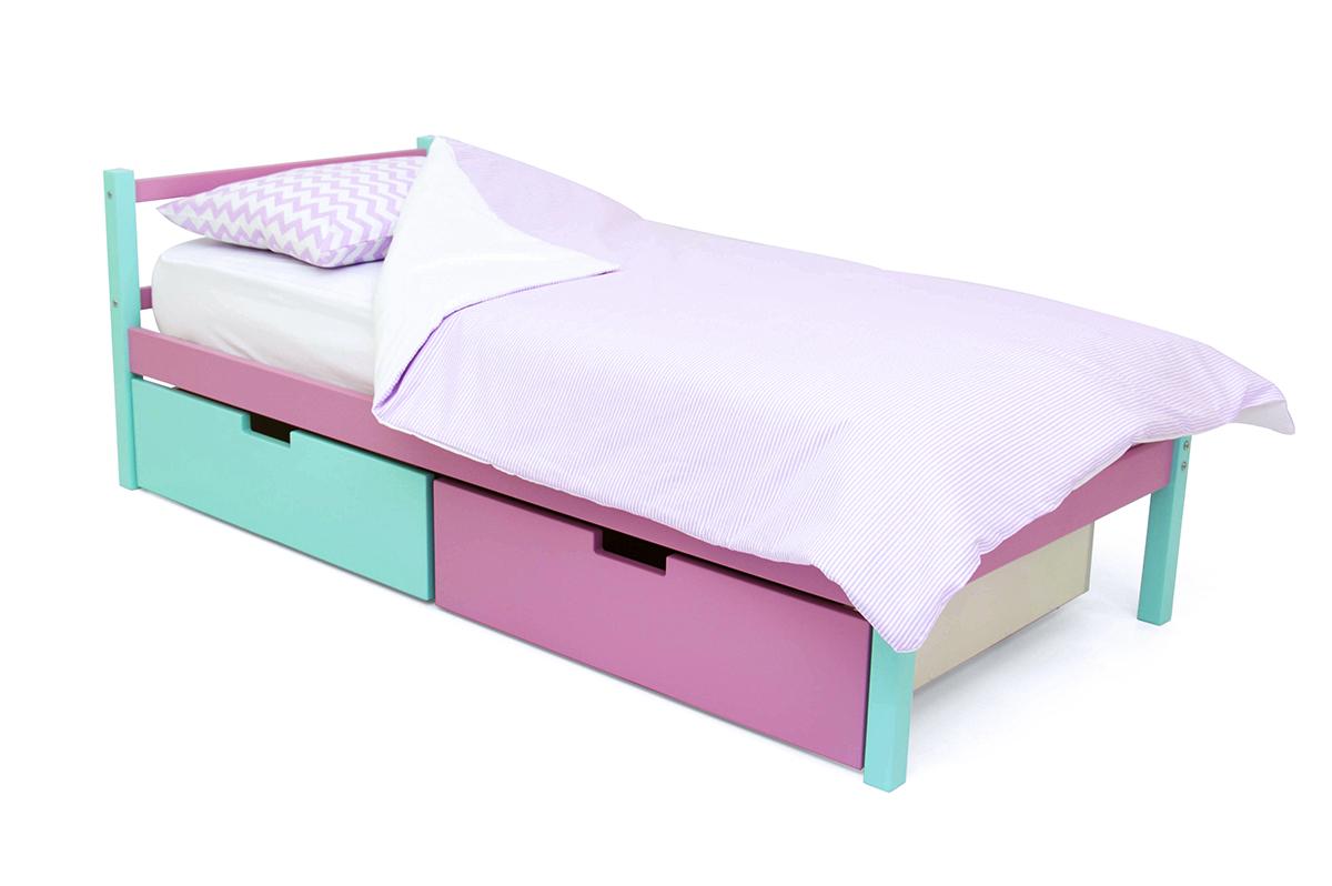 кровать детская мятный-лаванда