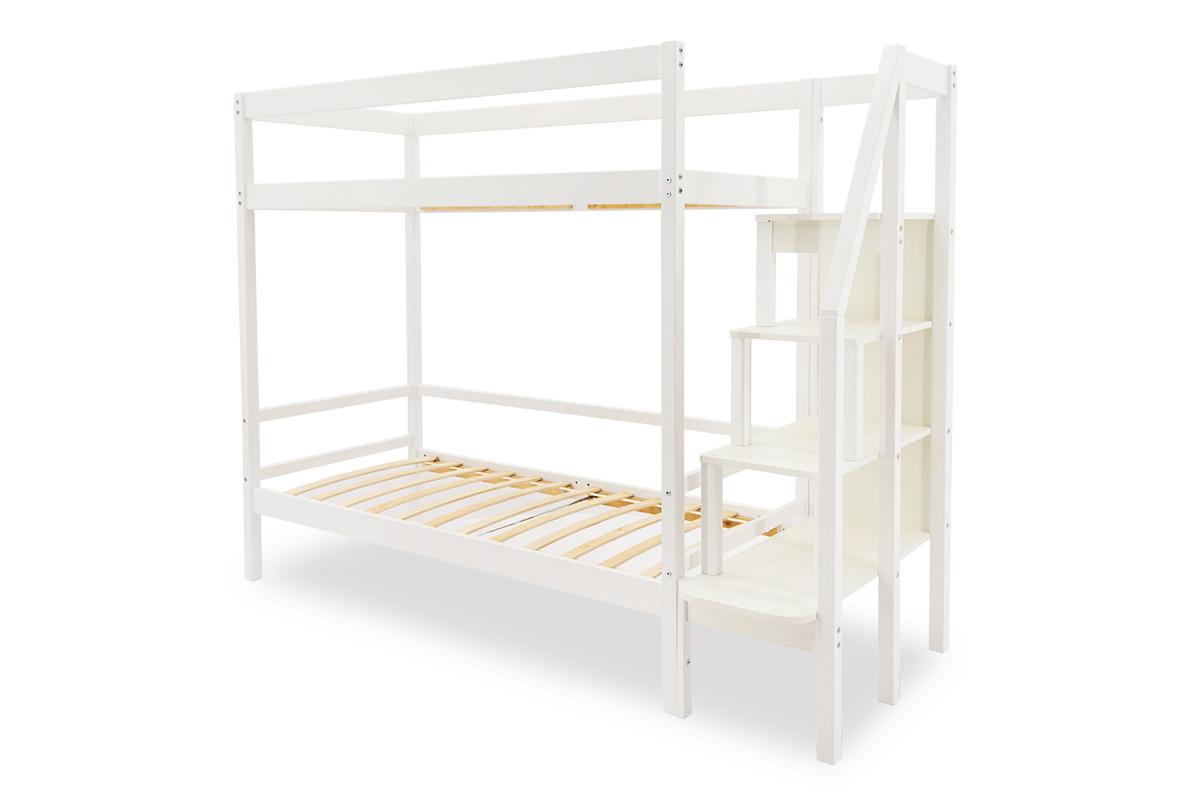 двухъярусная кровать детская белый