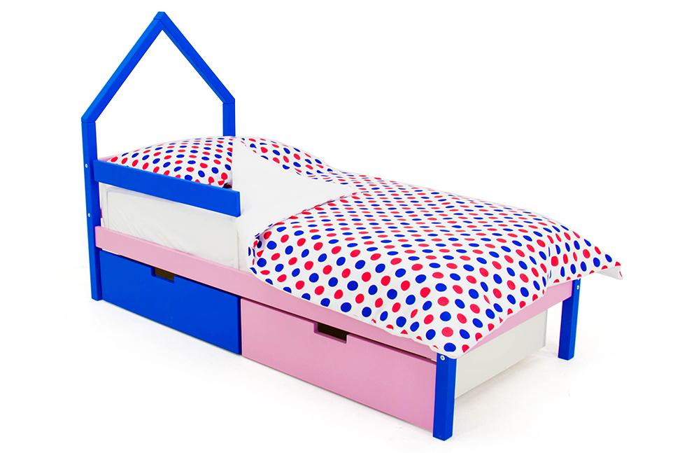детская кровать синий-лаванда