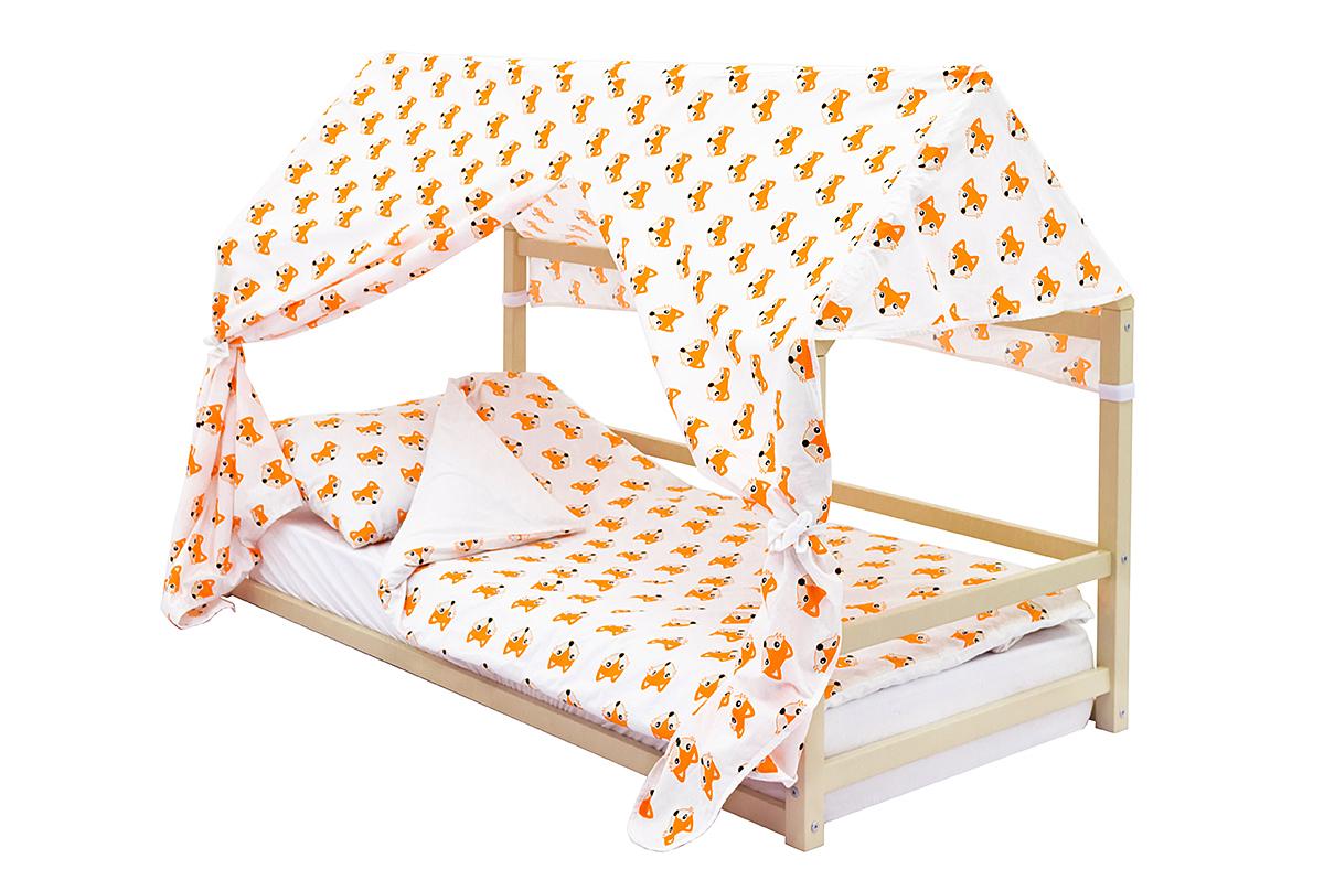 детская кровать монтессори бежевый