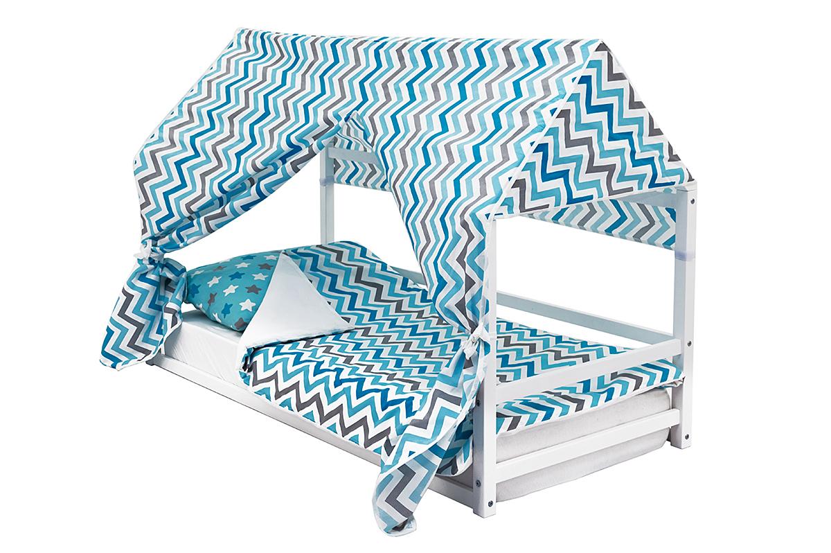 детская кровать монтессори белый
