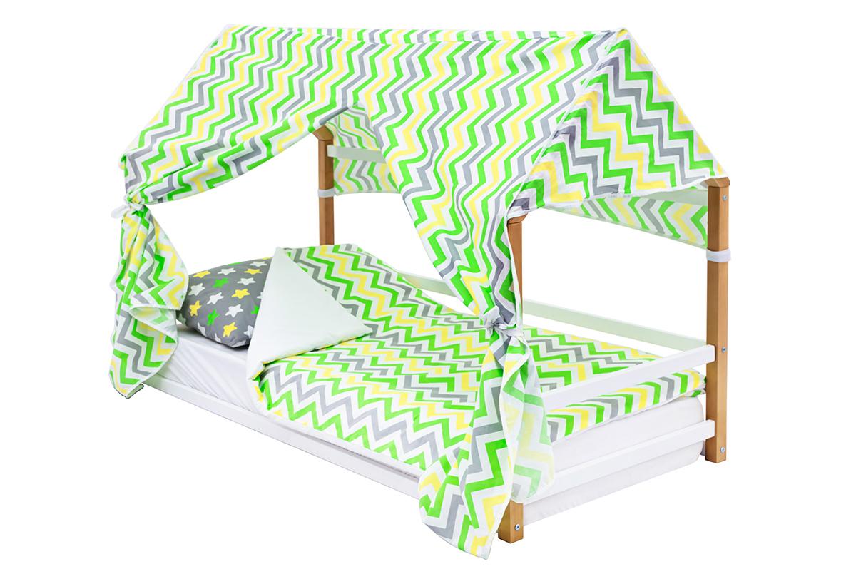 детская кровать монтессори дерево-белый