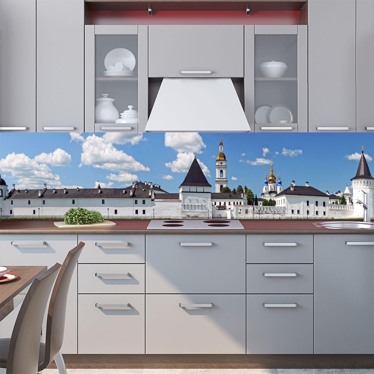 Наклейка на фартук кухни - Белый кремль