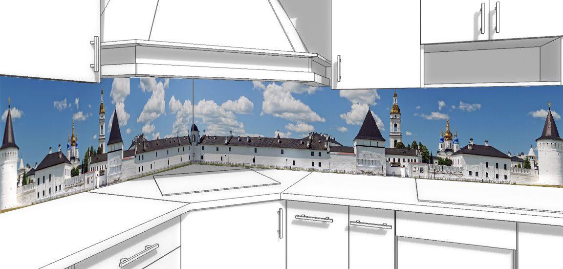 Kitchen Backsplash - White kremlin
