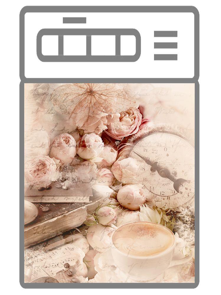 Наклейка на посудомоечную машину  - Город. скетч 2