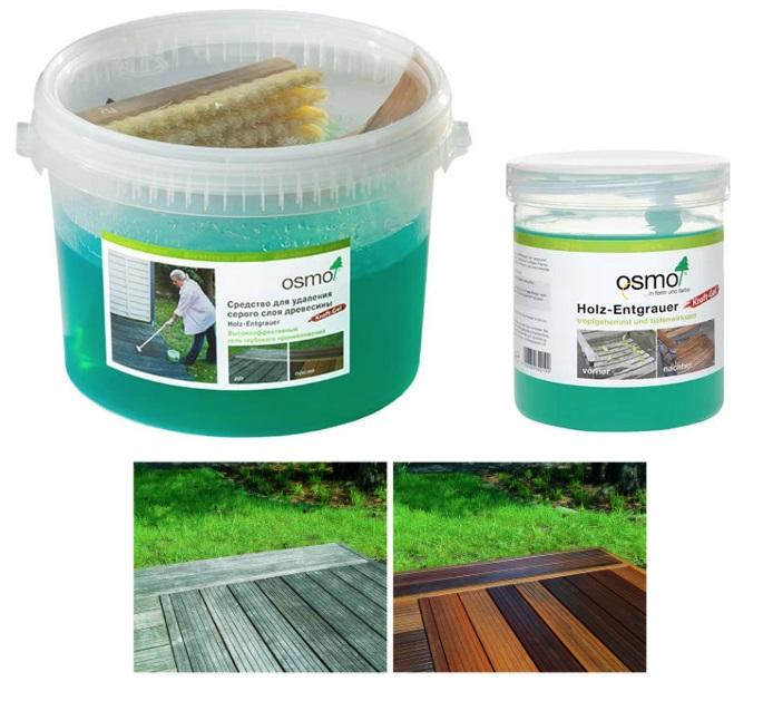 Osmo Holz-Entgrauer Kraft Gel удаление серого цвета древесины
