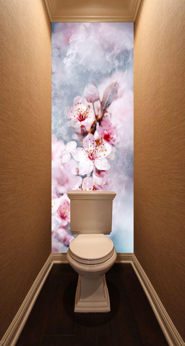 Фотообои в туалет - Воздух пропитан нежностью магазин Интерьерные наклейки