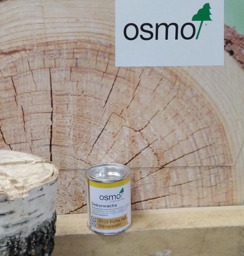 Прозрачная краска на основе цветных масел и воска Osmo Dekorwachs Transparent 3103