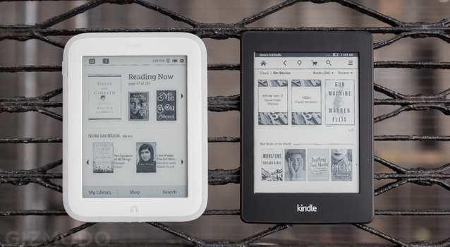 NOOK GlowLight vs KindlePaperWhite