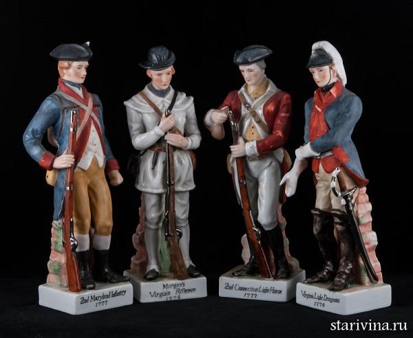 Коллекционные статуэтки американских солдат эпохи войны за независимость
