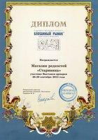 Диплом участника выставки-ярмарки Блошиный Рынок, сентябрь 2013.