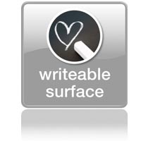 Kitchen scale: writeable surface