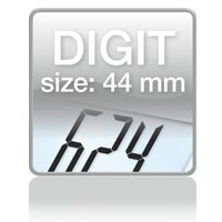 Piktogramm: Digit size 44 mm