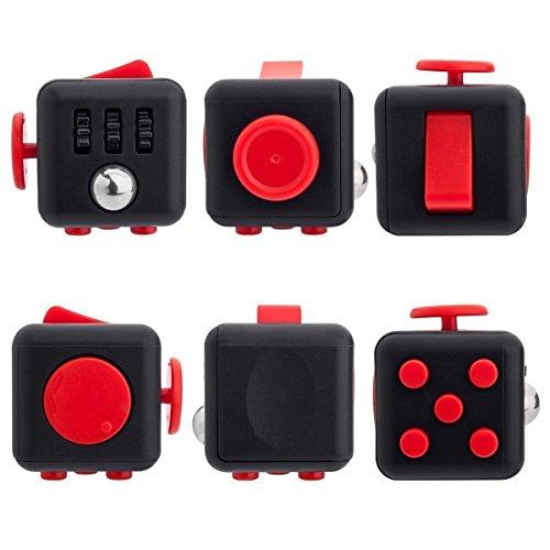 Кубик-антистресс Fidget Cube (Фиджет Куб) черный-красный