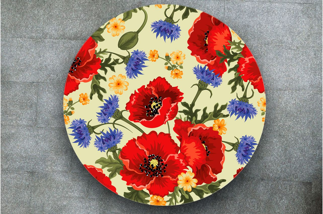 Stickers a Table - Poppies | Table Decals in x-decor.com