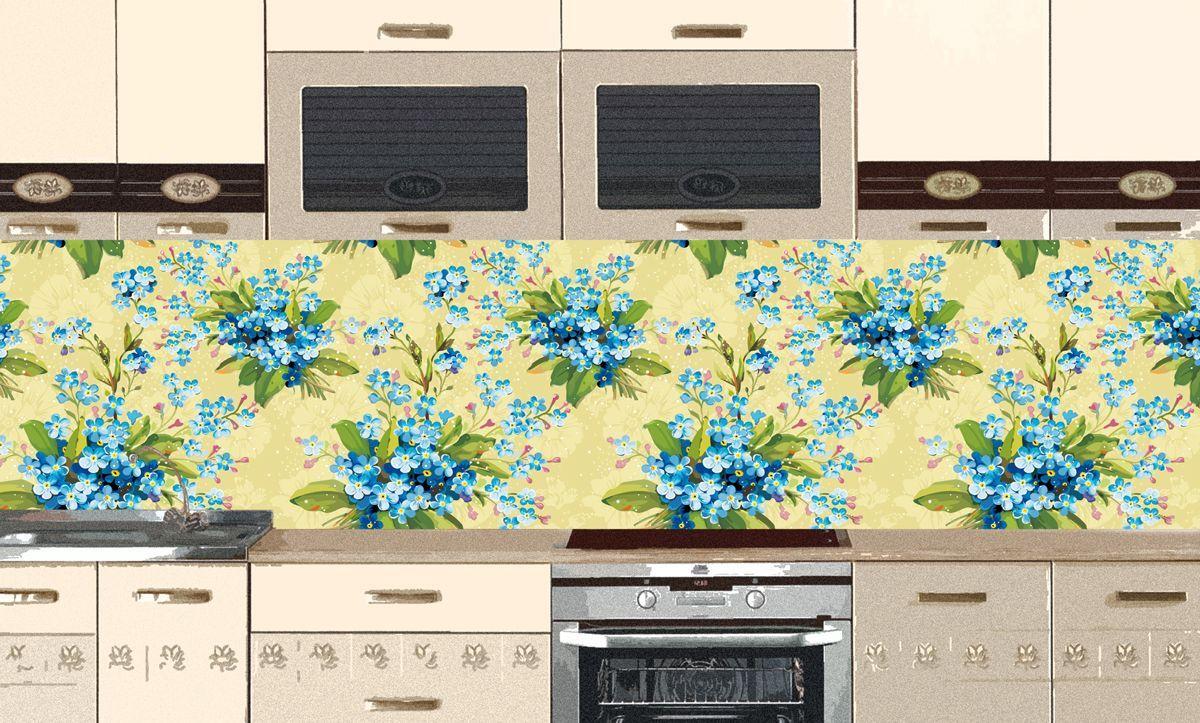 Фартук кухни - Цветочный мотив 3 купить в магазине Интерьерные наклейки