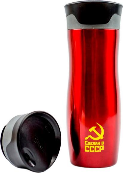 Термостакан для напитков el Gusto коллекция Corsa 470 мл с рисунком - удобная форма