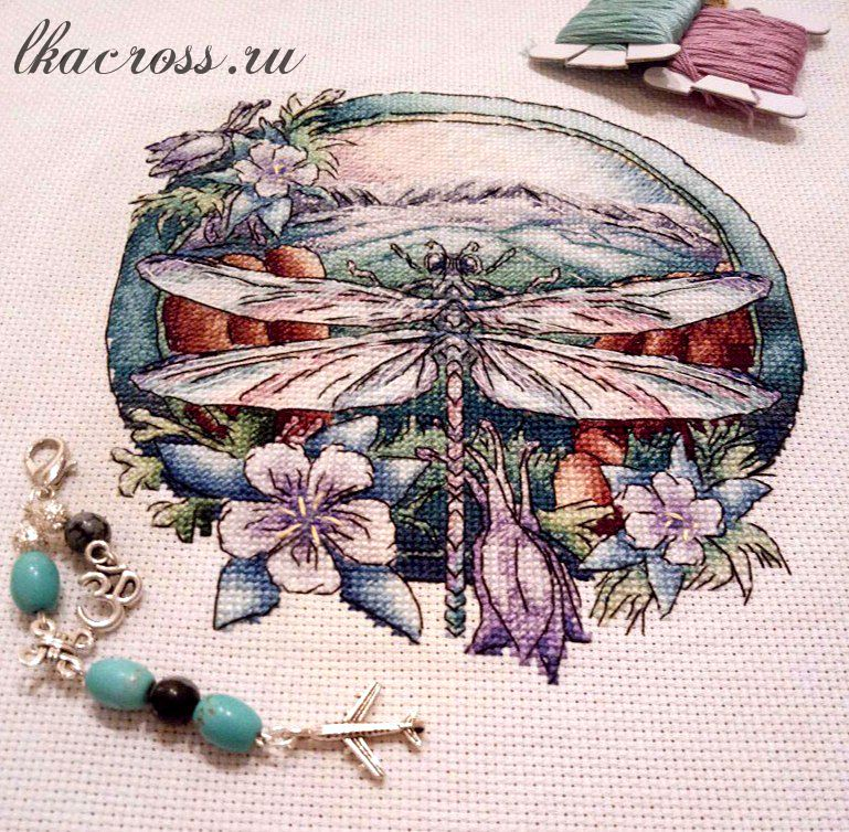 XStitch pattern Dragonfly.