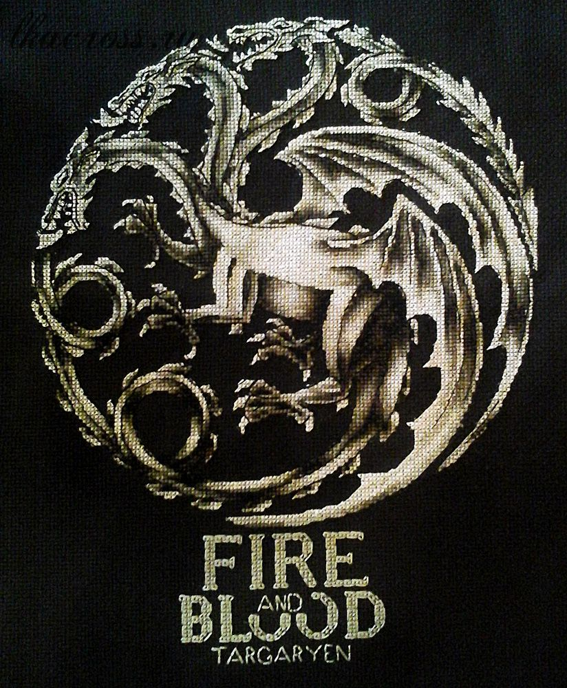 XStitch pattern Fire and blood.