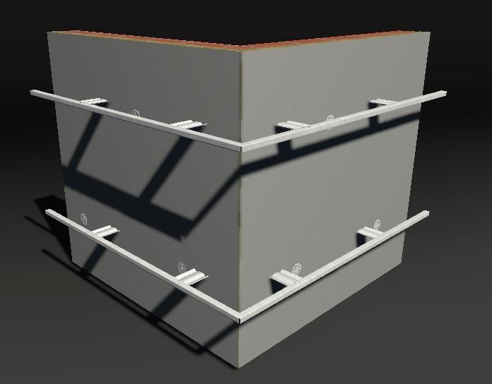 Монтаж горизонтальных профилей при отделке фасада