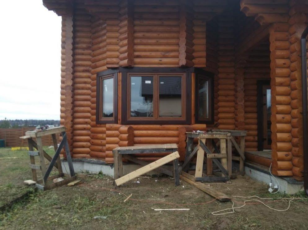 Наличники на эркер в деревянном доме